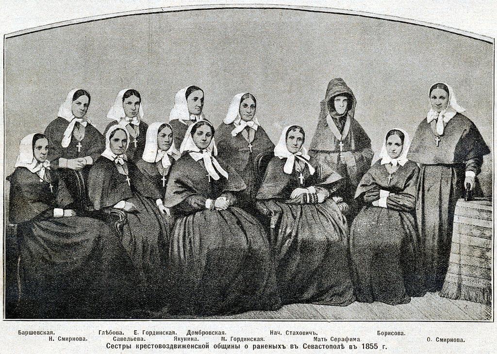 Сёстры Крестовоздвиженской общины, Севастополь, 1855 год